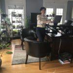 selfie of home office